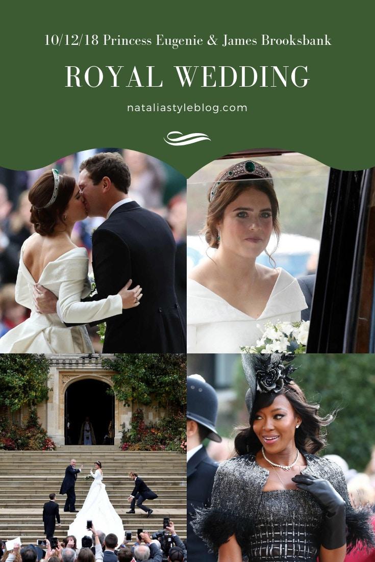 A full fashion recap detailing the extraordinary wedding look of Princess Eugenie.
