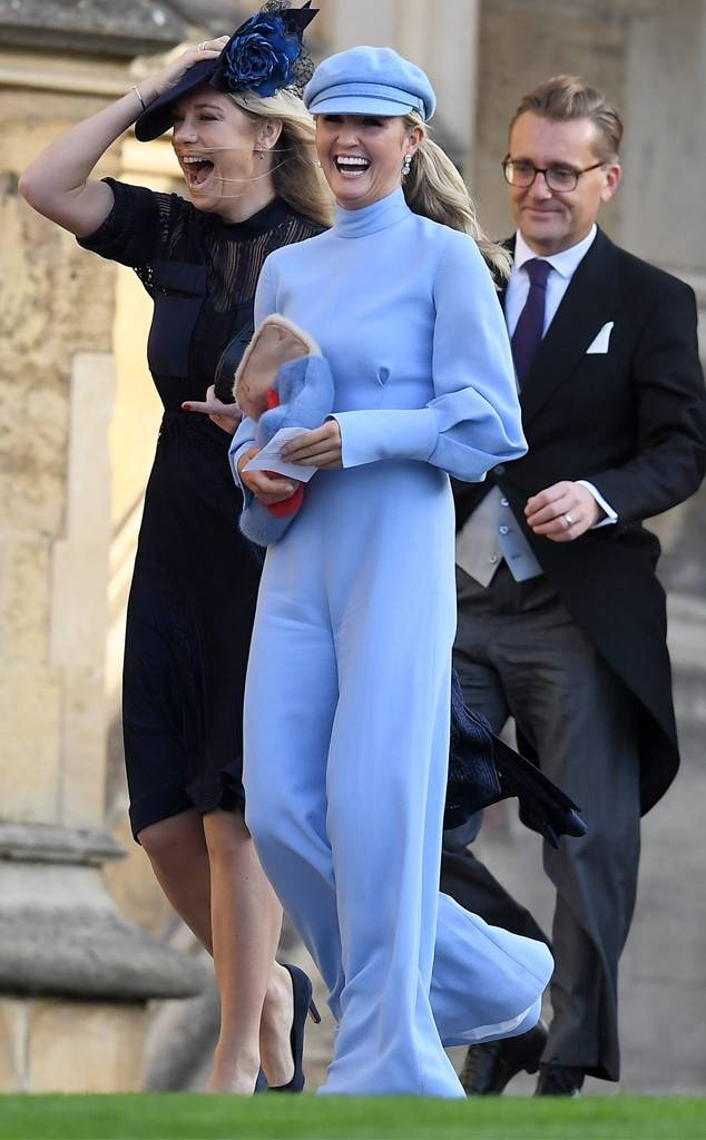 Chelsy Davy's friend wearing a blue jumpsuit was my worst-dressed pick at the Royal Wedding of Princess Eugenie.