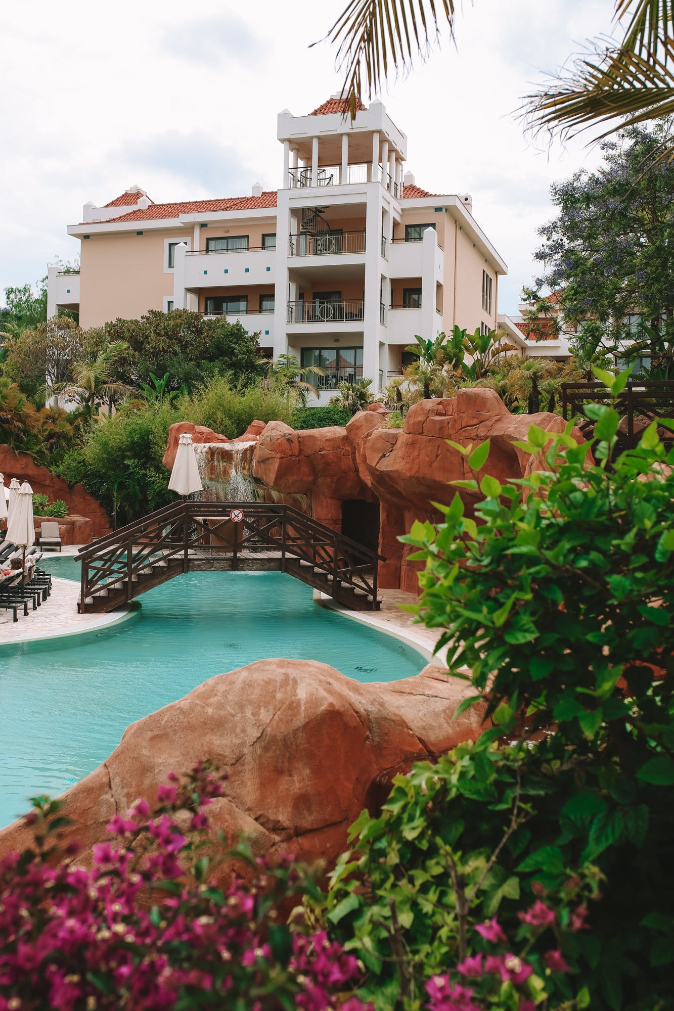 Beautiful gardens and landscape at the luxury hotel, Hilton Vilamoura As Cascatas Golf Resort & Spa