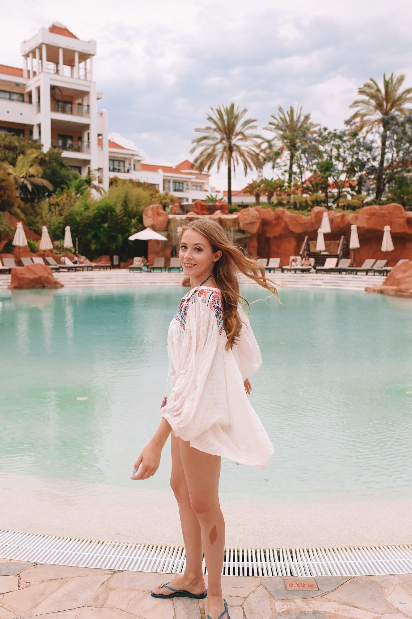 Enjoying the pools at the Hilton Vilamoura As Cascatas Golf Resort & Spa