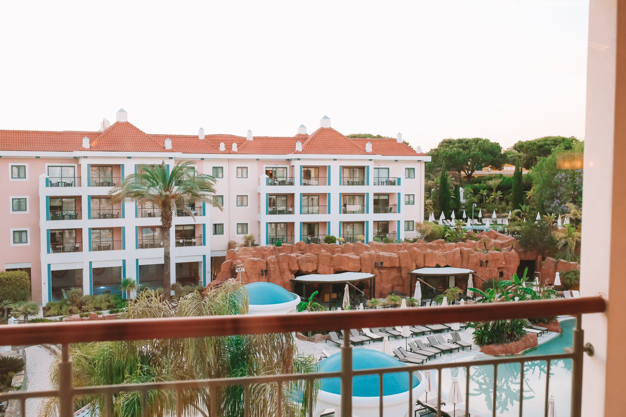Balcony views from our room at Hilton Vilamoura As Cascatas Golf Resort & Spa