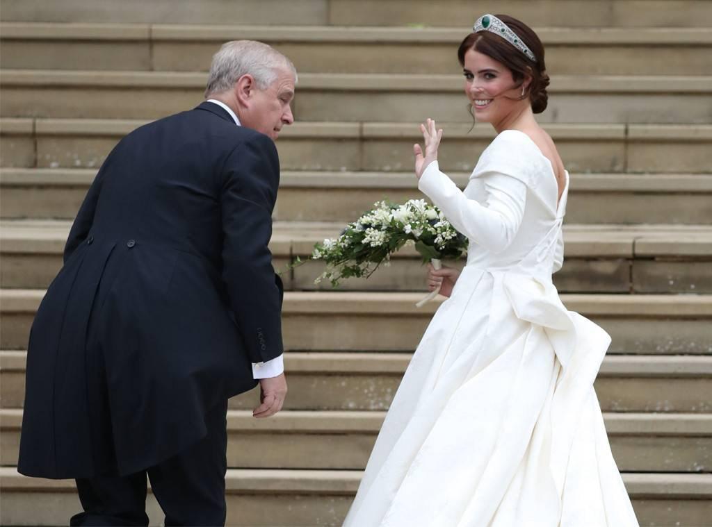 Princess Eugenie wedding dress Peter Pilotto back scar