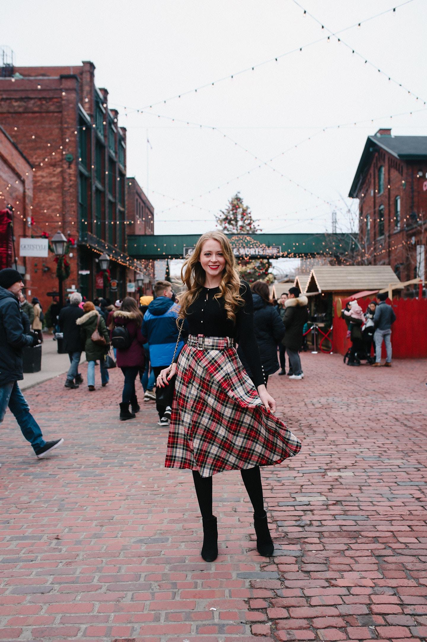 Kate Middleton Inspired Plaid Midi Skirt