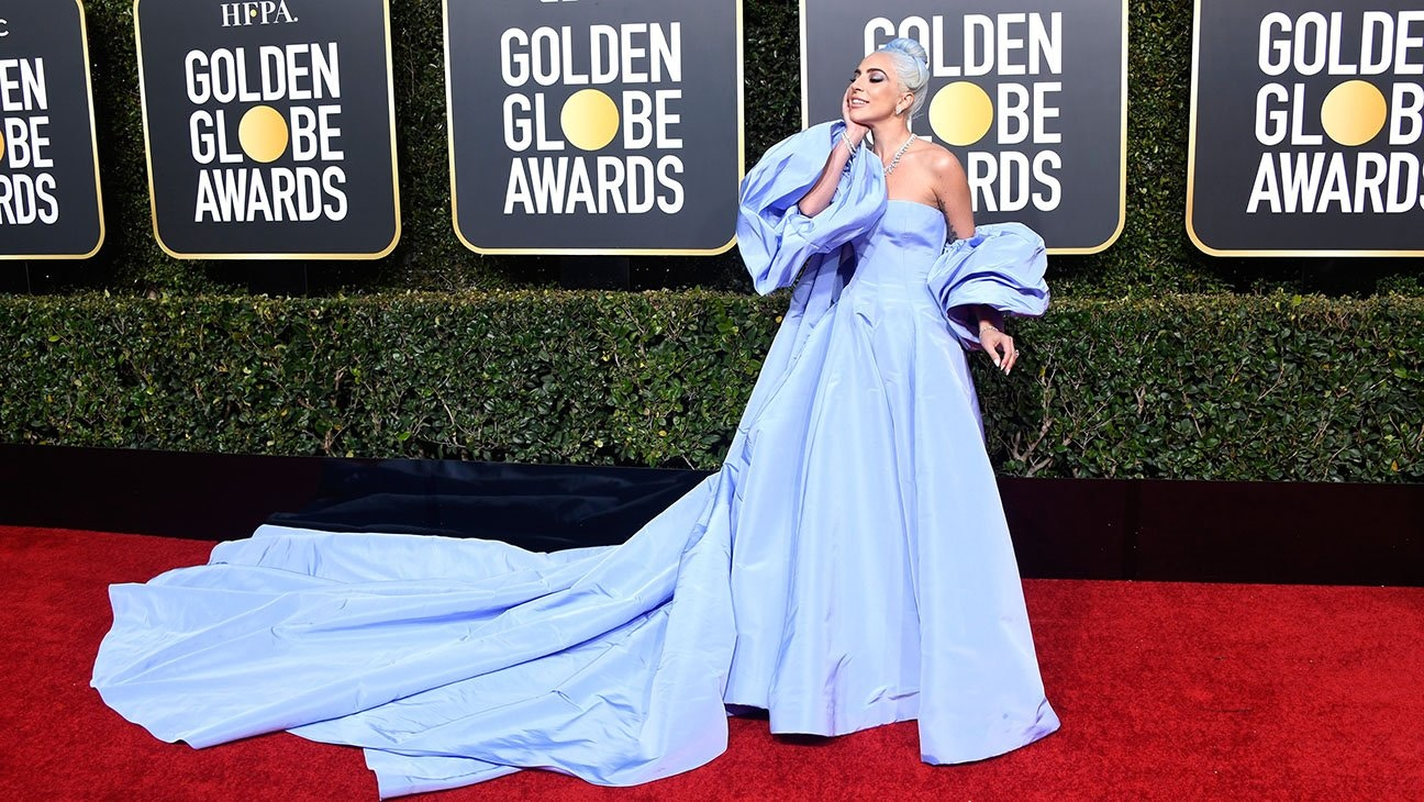 Lady Gaga 2019 Golden Globes in Valentino - my best dressed pick.