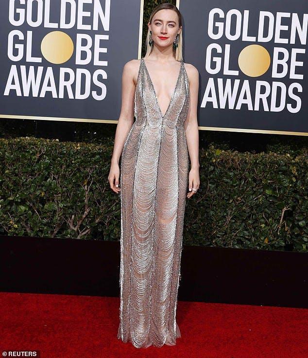 Saoirse Ronan Gucci 2019 Golden Globes