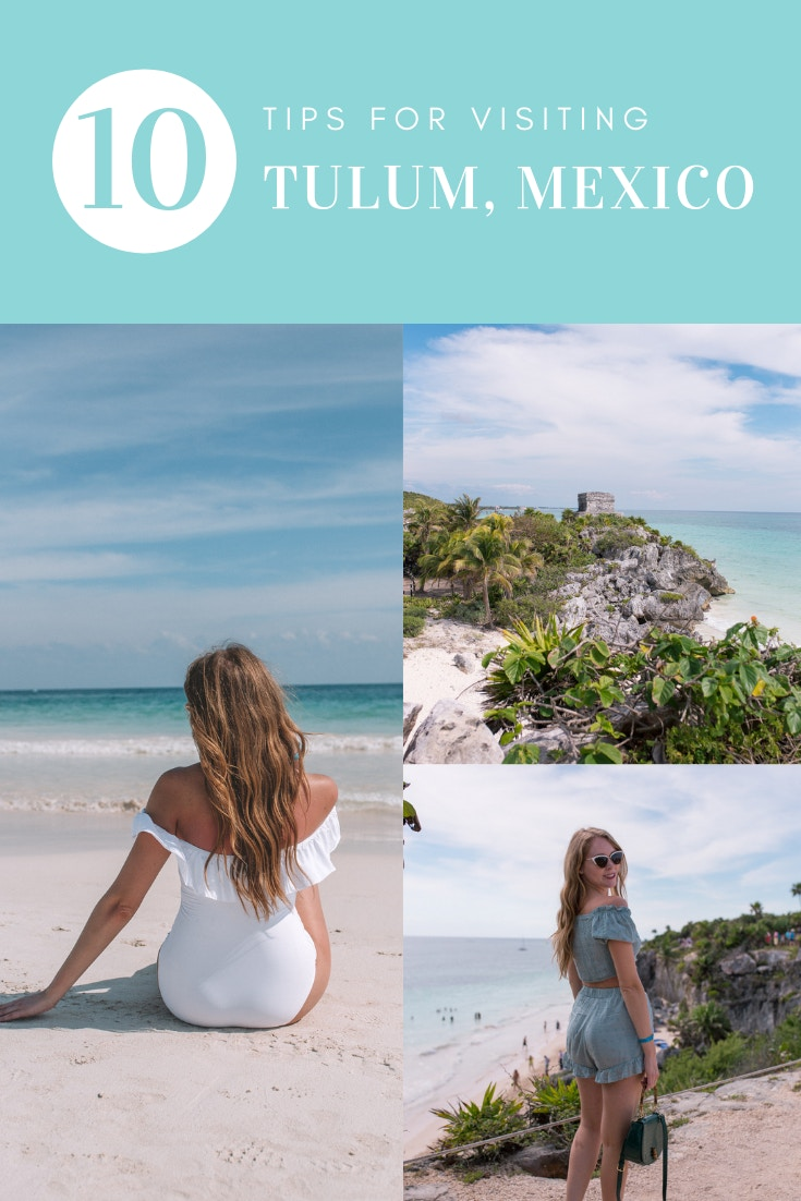 10 Helpful Tips for visiting Tulum, Mexico: Use this travel guide to plan your day trip to Tulum from Playa del Carmen. Tips on finding the best beach clubs in Tulum, snorkelling and visiting the Mayan ruins.