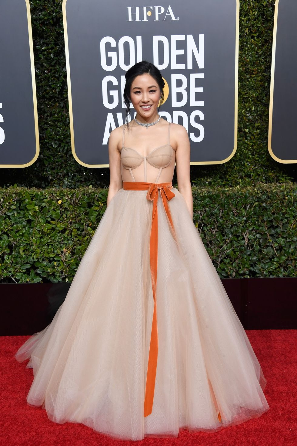 constance wu in vera wang 2019 golden globes