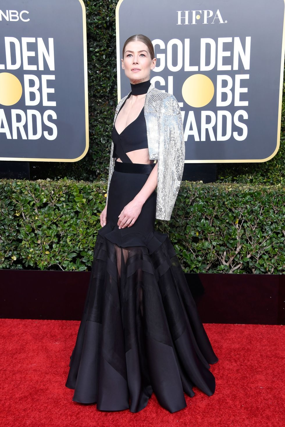 rosamund pike givenchy 2019 golden globes