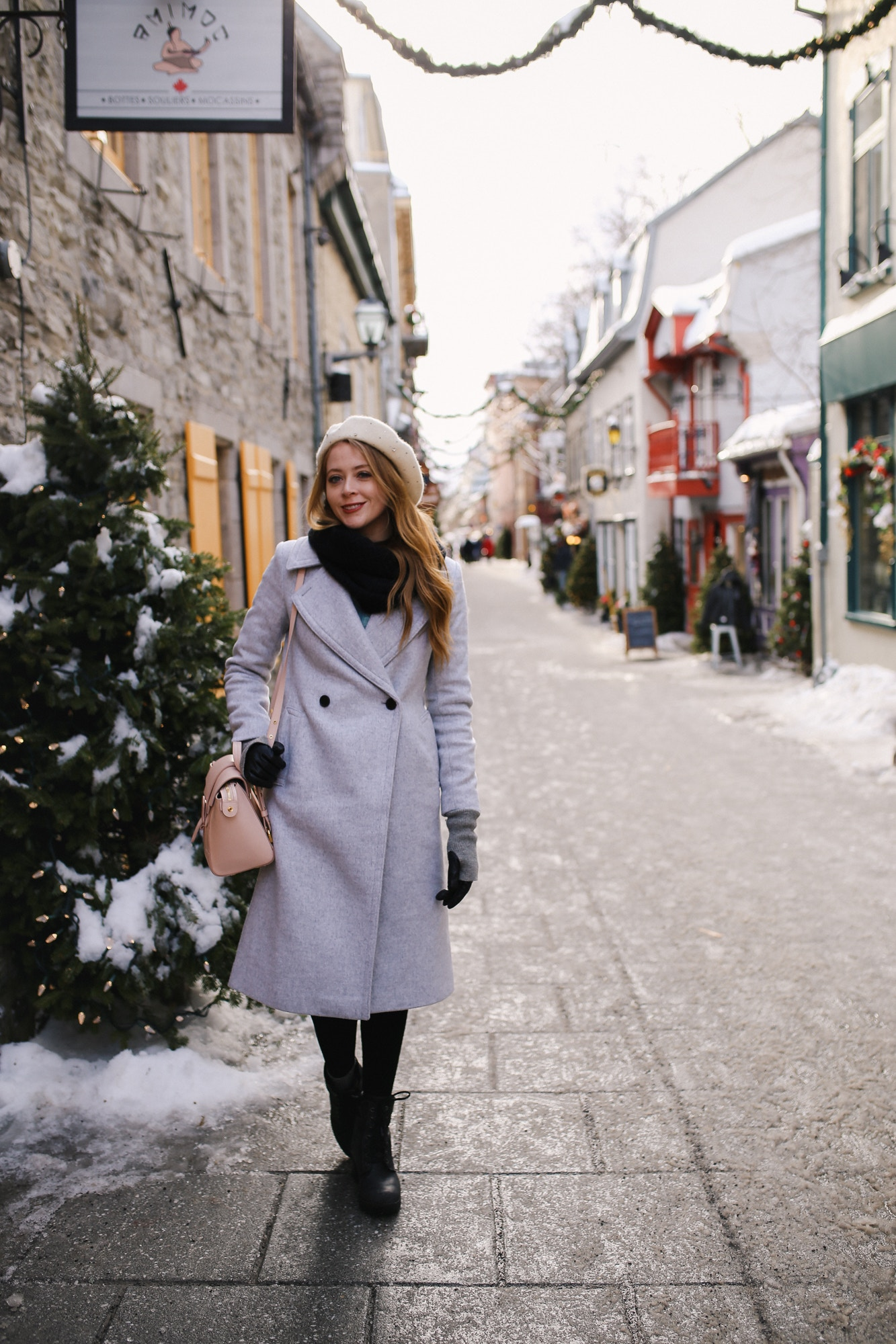 Exploring Quartier Petit Champlain in Old Quebec City - one of my top 10 things to do in Quebec City in a weekend in winter.