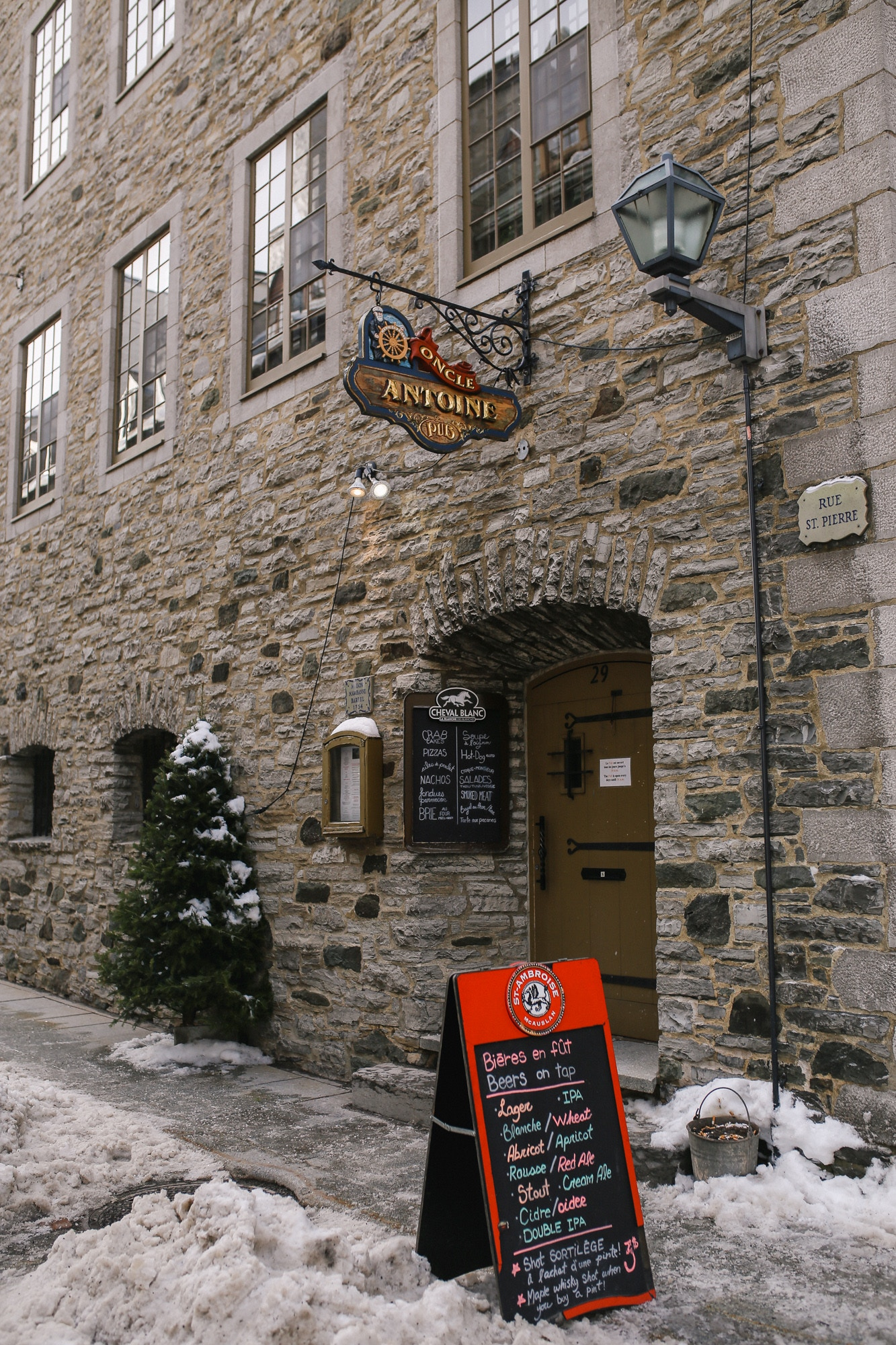 Top 10 Things to do in Quebec City in a weekend in winter: have a couple pints at l'Oncle Antoine, one of Canada's oldest bars dating back to 1754!