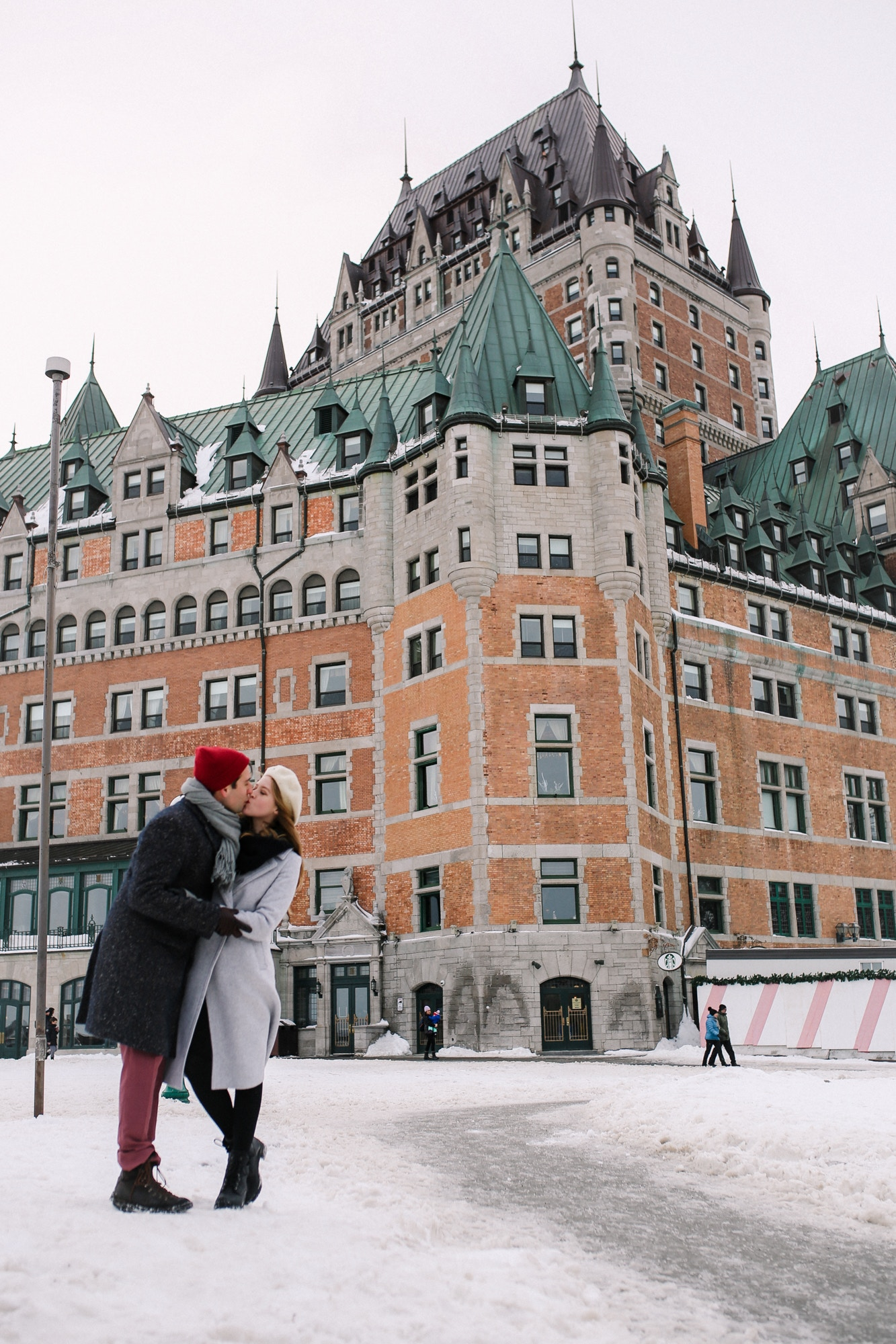 Romantic winter weekend getaway to Quebec City - 48 hour itinerary for couples in the charming, European city in North America.