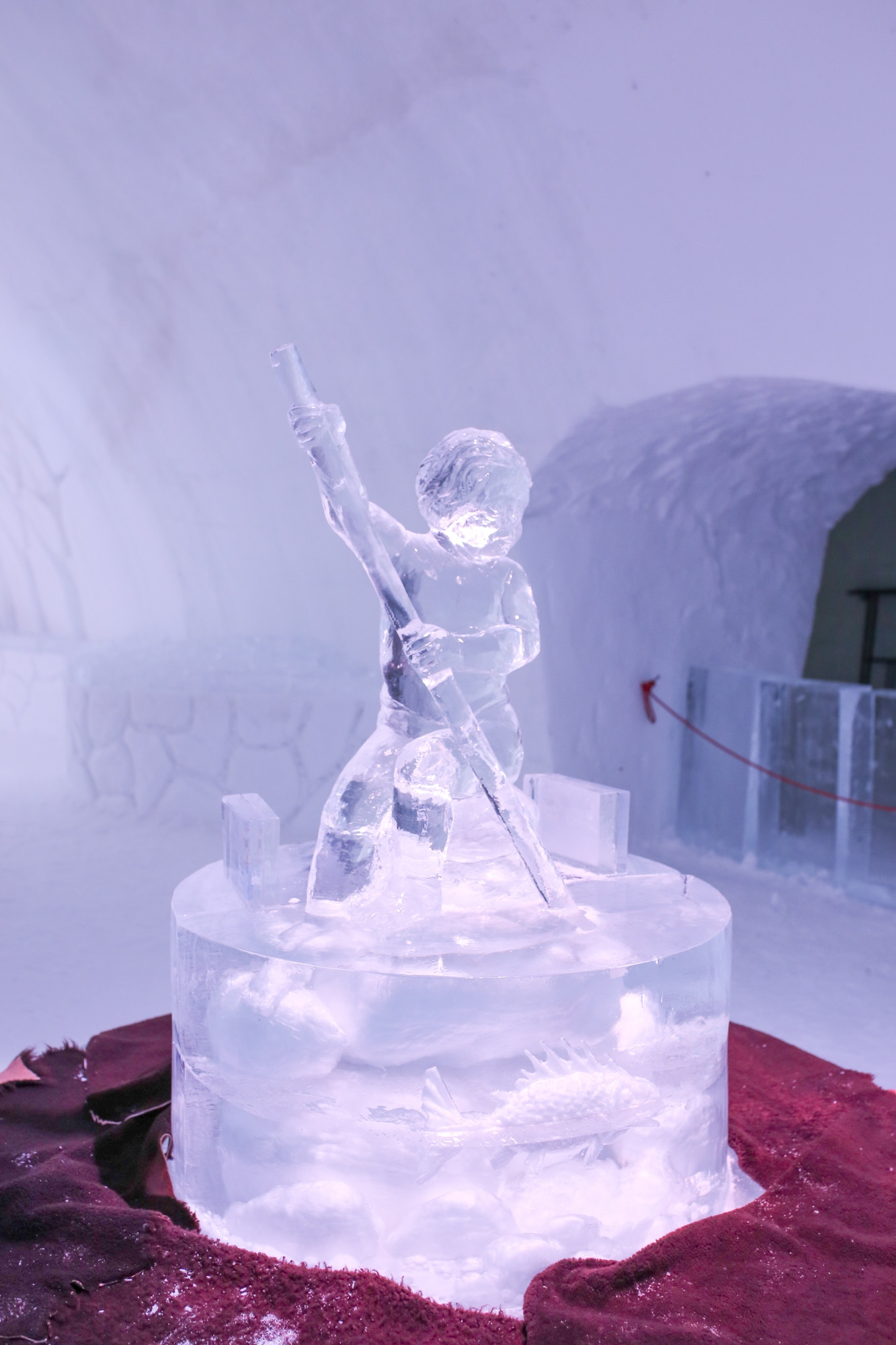 Ice sculptures are so beautiful and expertly crafted at the Hotel de Glâce near Quebec City.