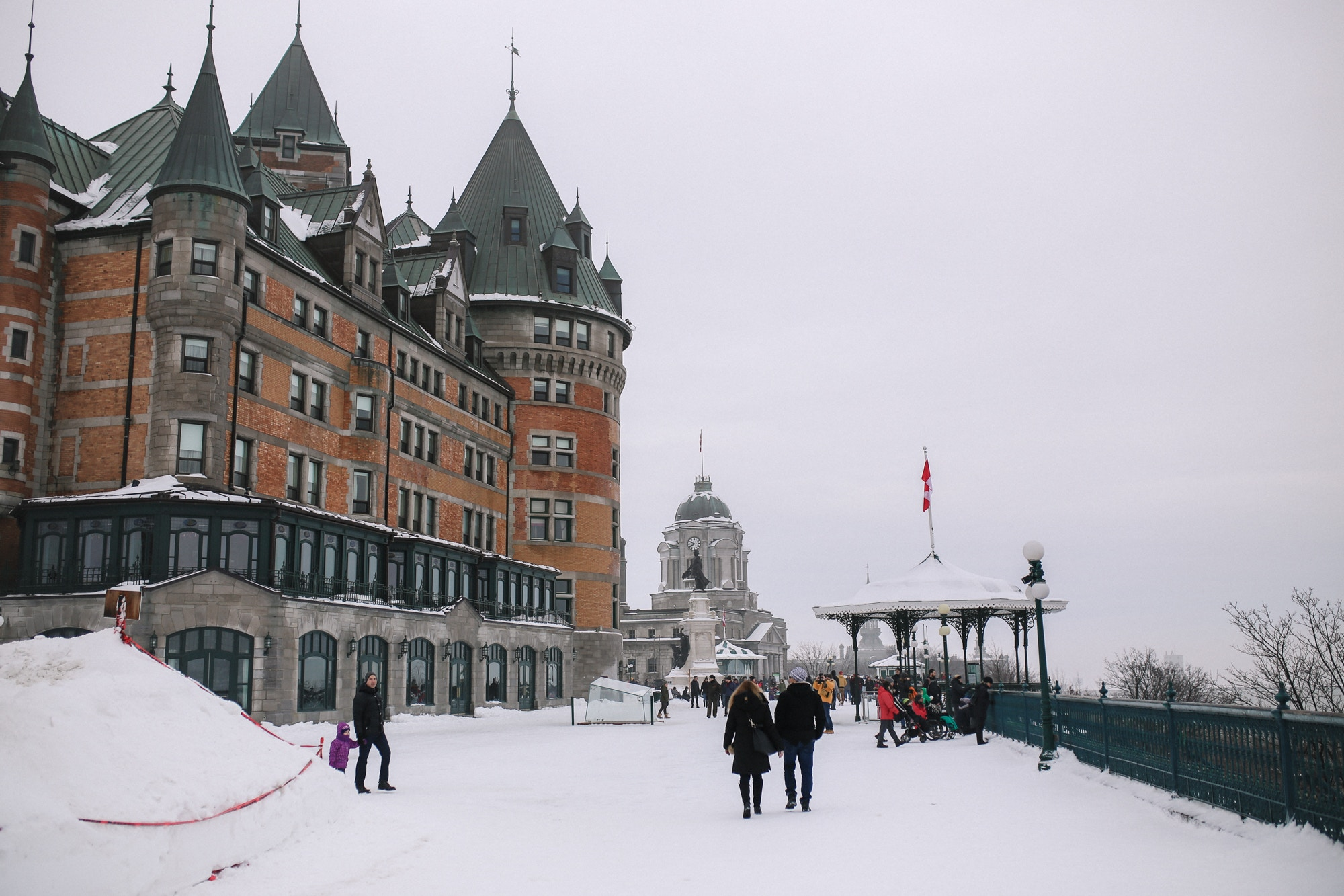 Beautiful Château Frontenac in Quebec City