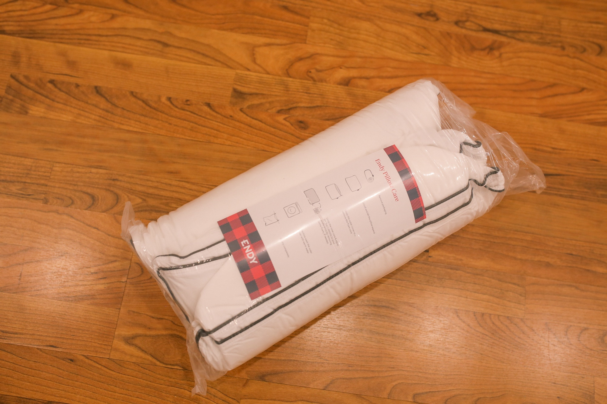 The Endy Pillow is adjustable and made of charcoal bamboo foam for comfort.