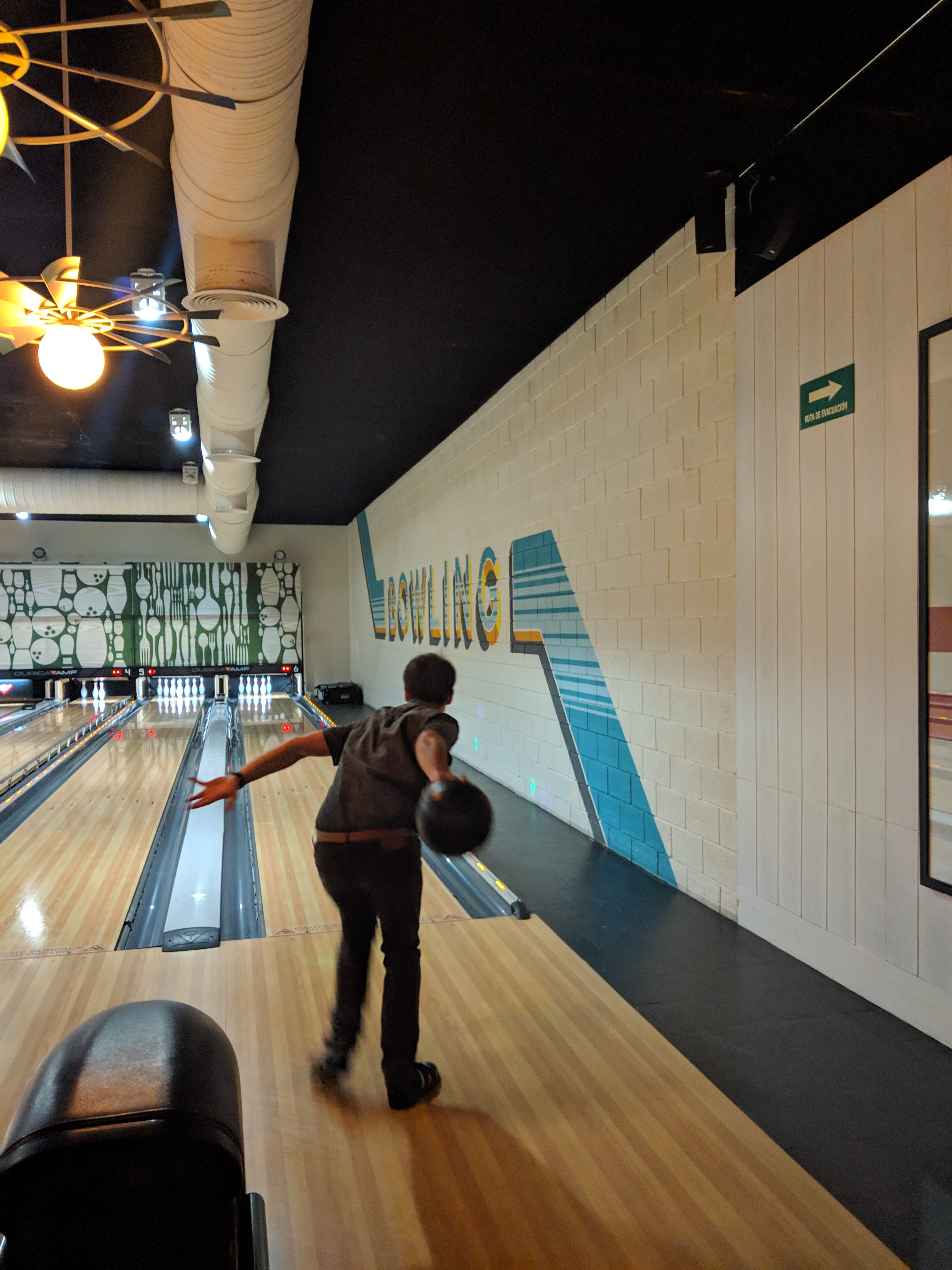 The bowling alley at Ocean Riviera Paradise was fabulous!