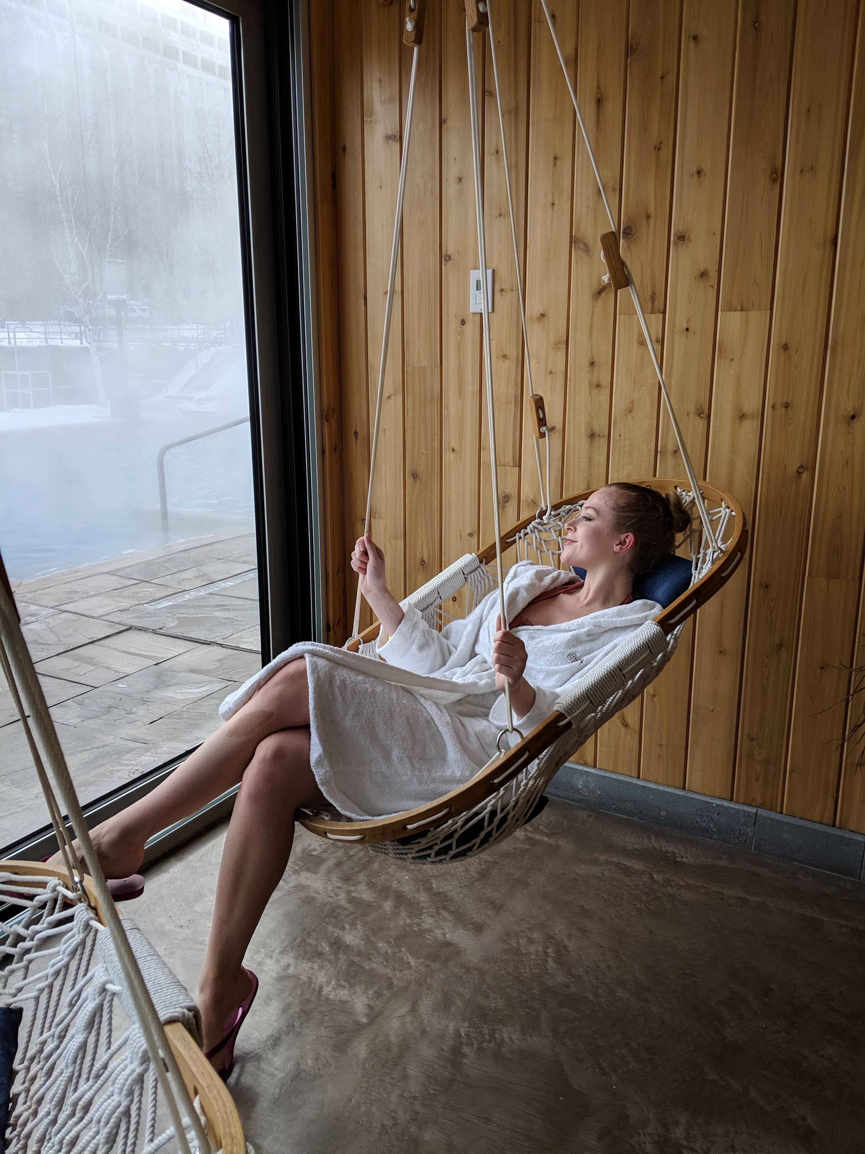 Bota Bota Spa Review - a chic floating spa in an old boat in Montreal's historic old port offers great views and a cozy setting.
