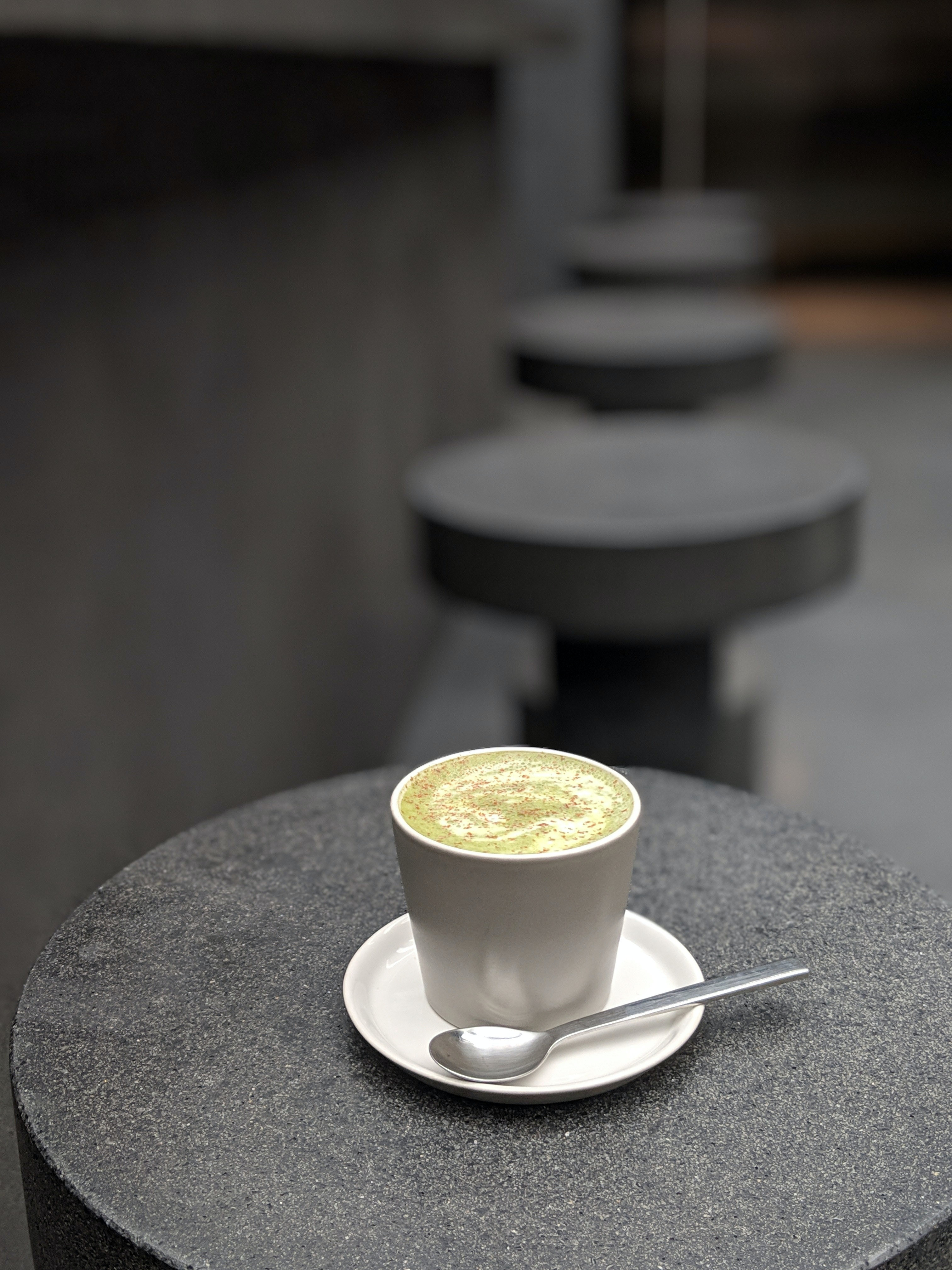 SSENSE Cafe in Montreal is a must see! With chic black concrete interior and amazing lattes, it's one of the top 10 Most Instagrammable Spots in Montreal
