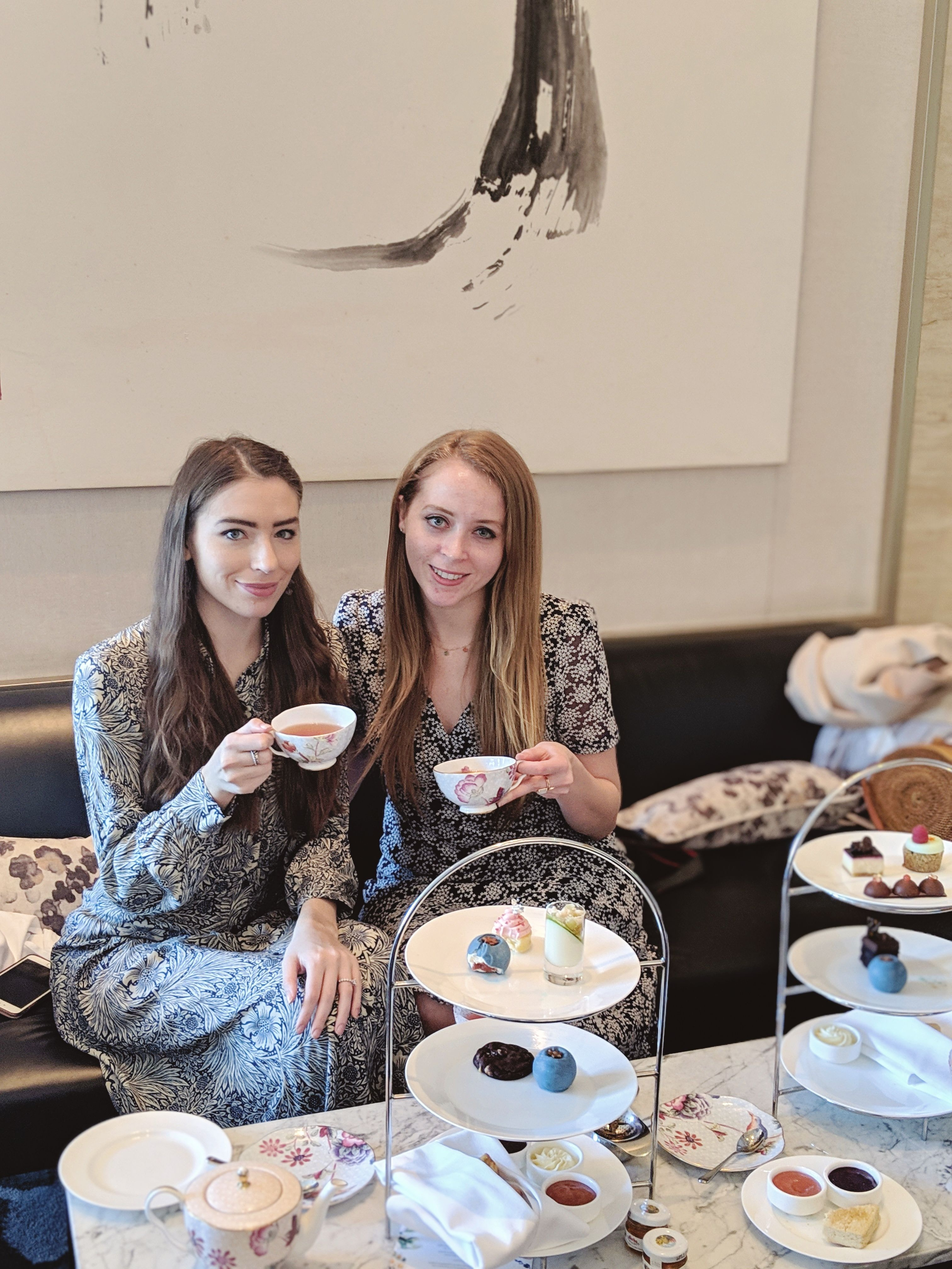 The perfect girls' weekend: high tea at the Shangri-La Hotel in Toronto.