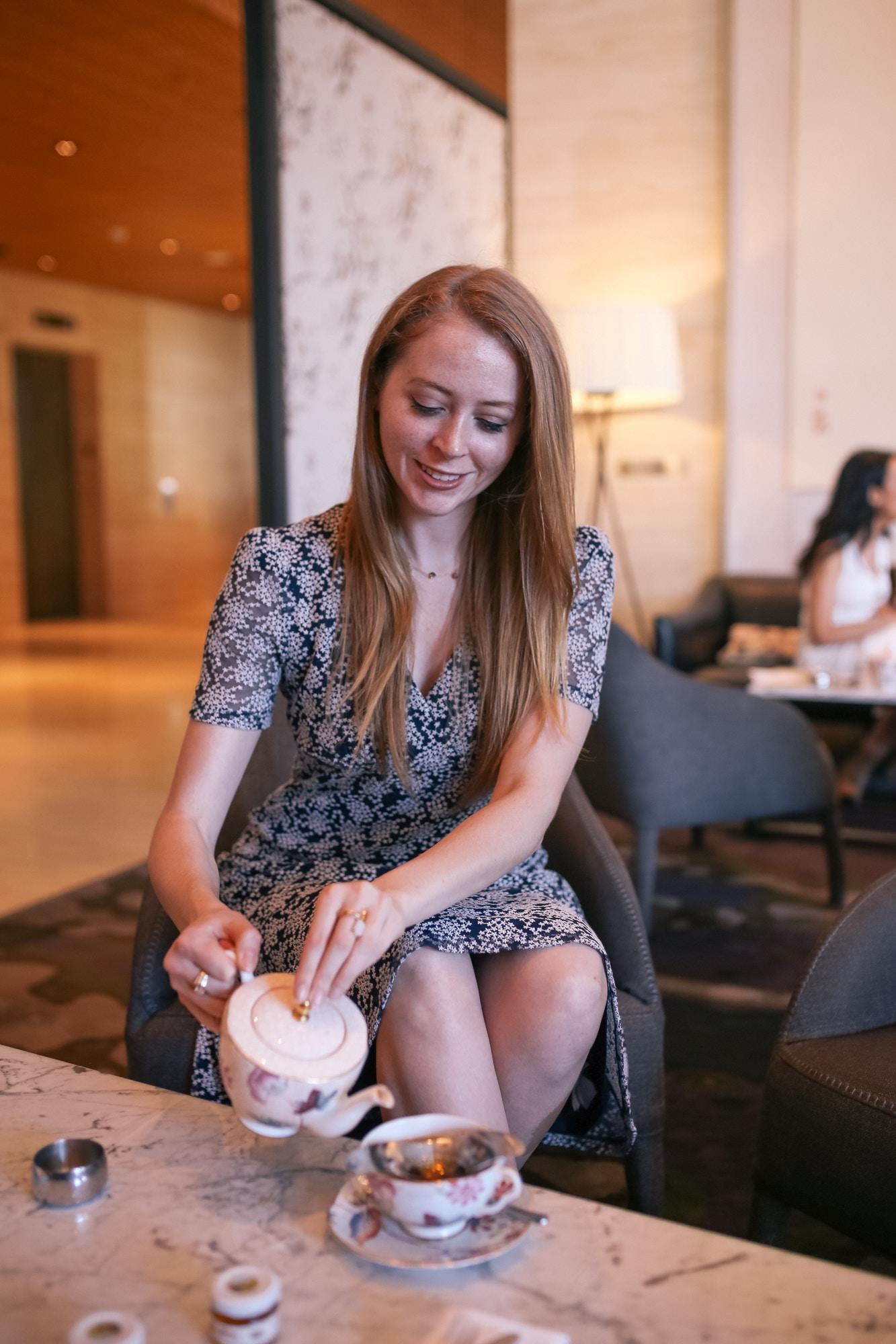 Enjoying Botanical Afternoon High Tea at the Shangri-La Hotel Toronto