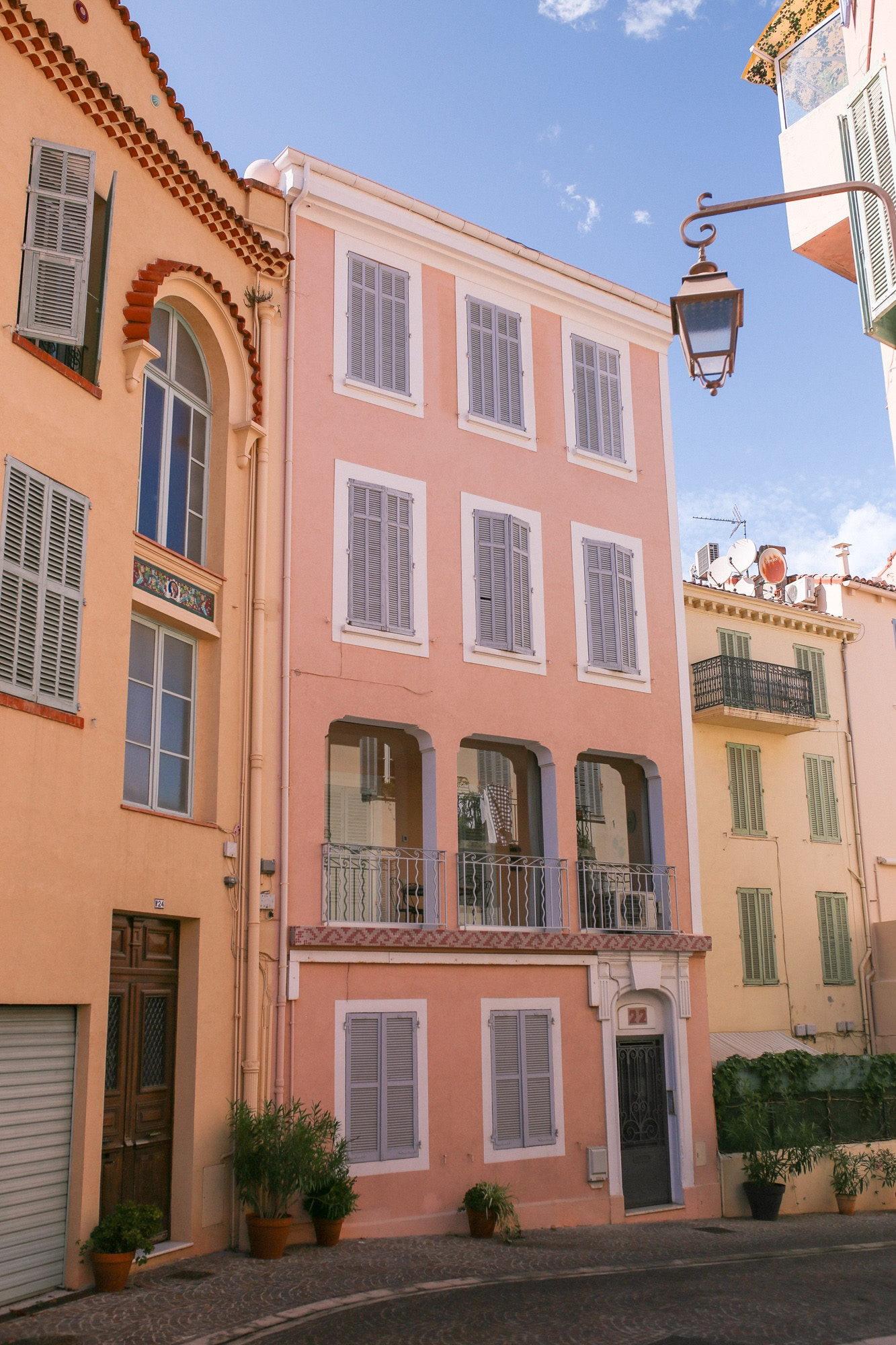 Colourful houses in Le Suquet, Cannes