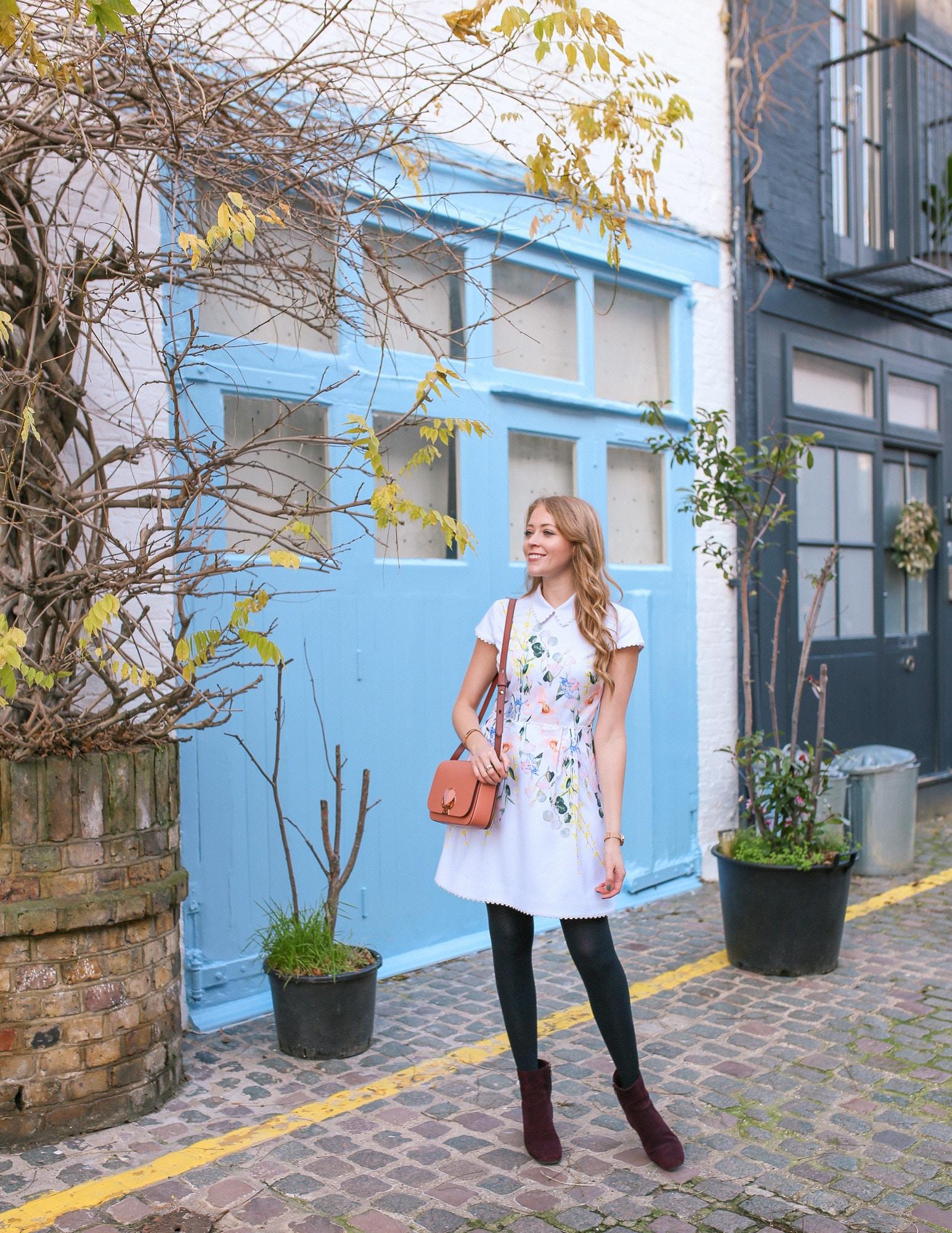 St Luke's Mews, Notting Hill London - the best spot for Instagram pics.