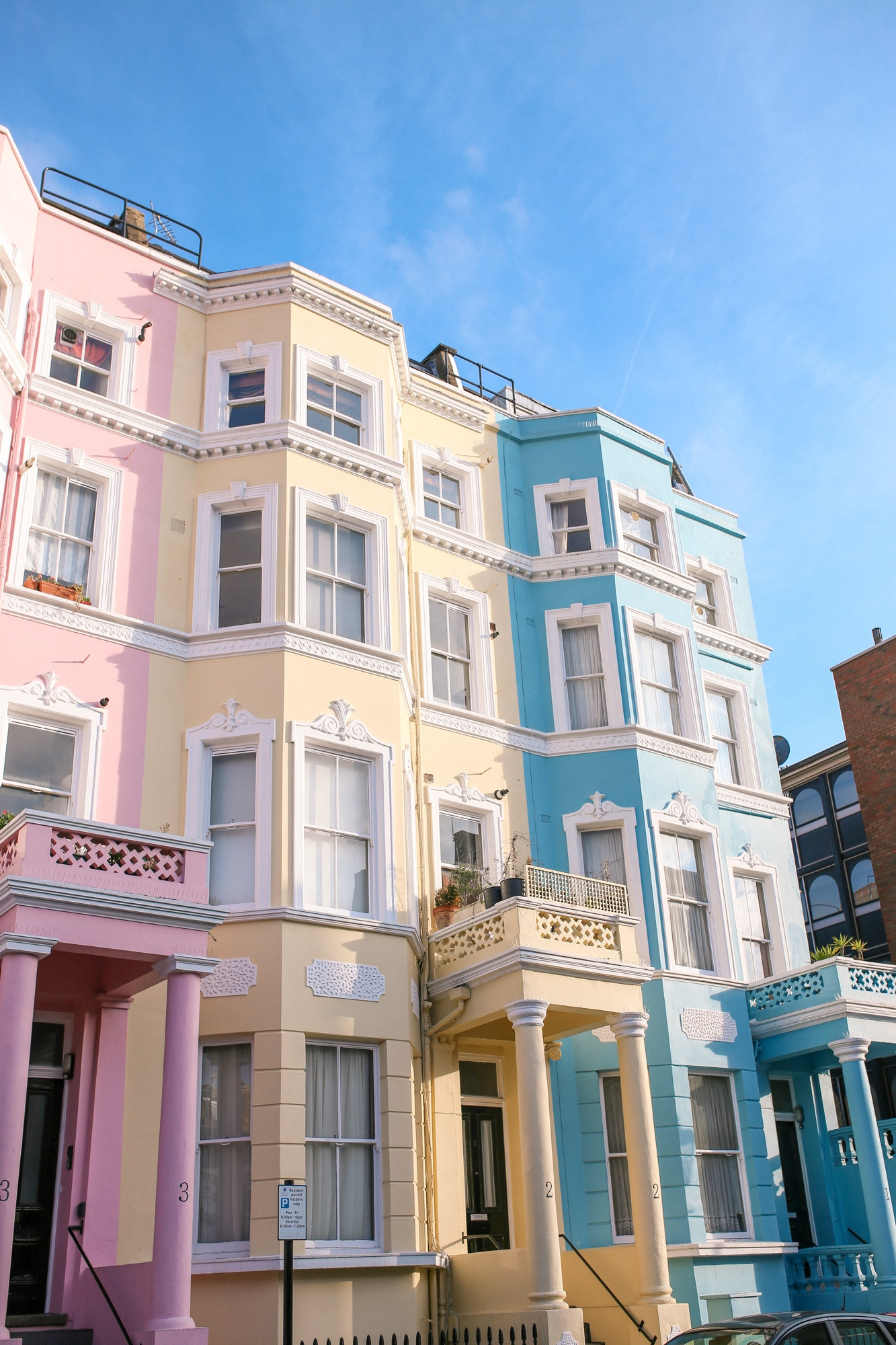 Colville Houses in Notting Hill London - the cutest colourful houses in the city!
