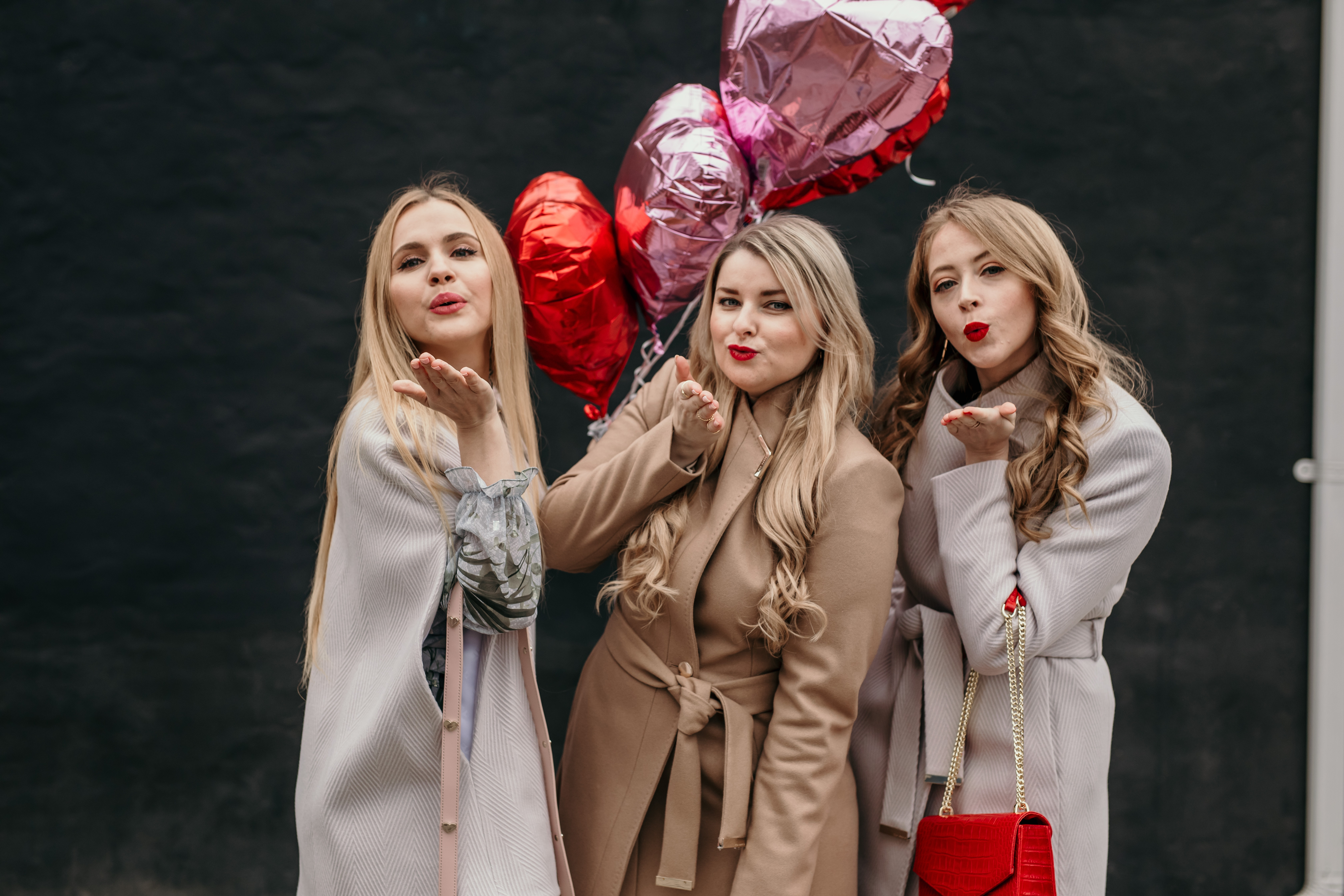 Galentine's Day Outfit Ideas: Ted Baker wool wrap coats are perfect for staying warm and stylish!