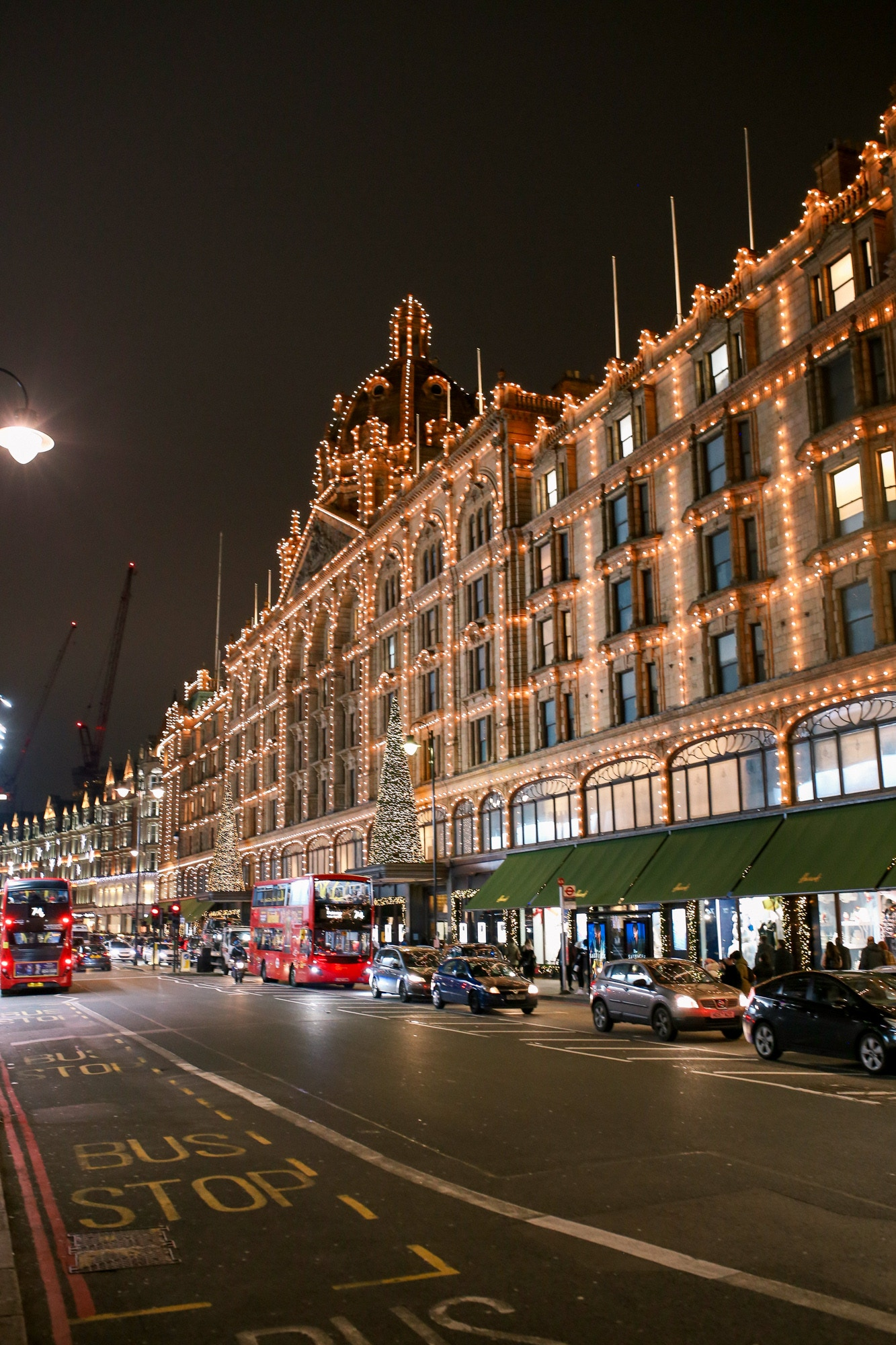 Harrods lit up for the Christmas Holidays is a magical sight. Hotel Xenia London is located a 15 minute walk from Harrods Department store.