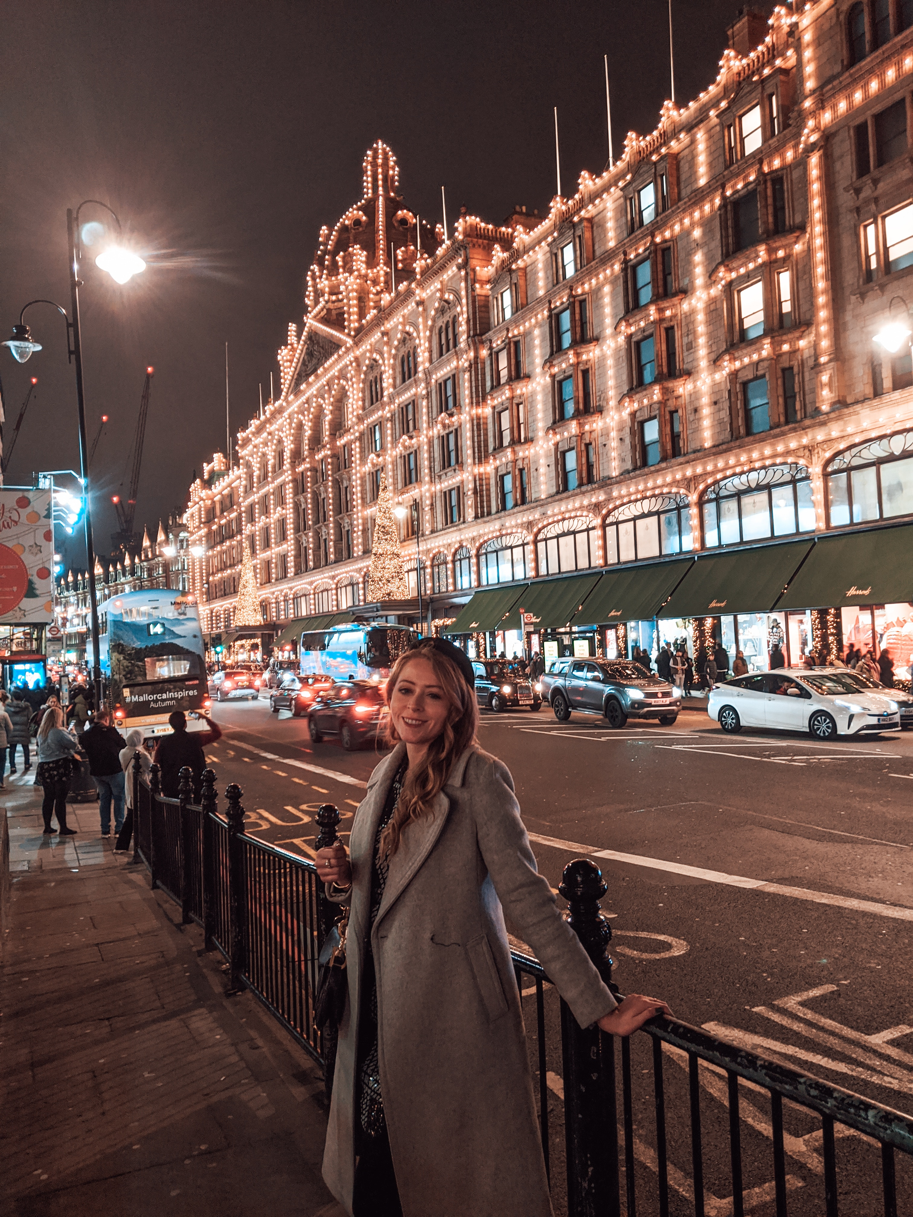 Harrods at Christmas time - all the lights make the famous department store so special.