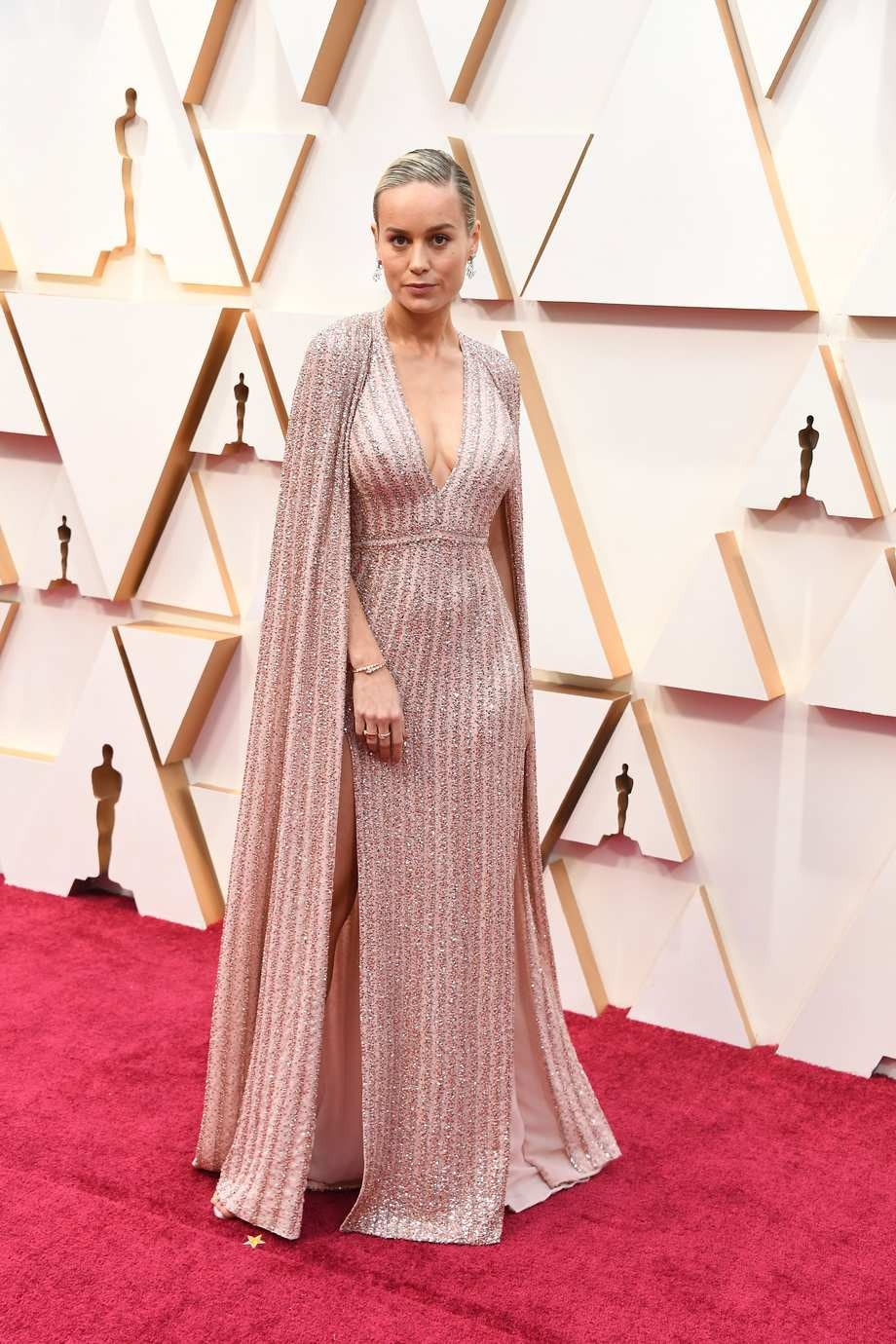 Brie Larson in Celine - one of the best dressed at the 2020 Oscars