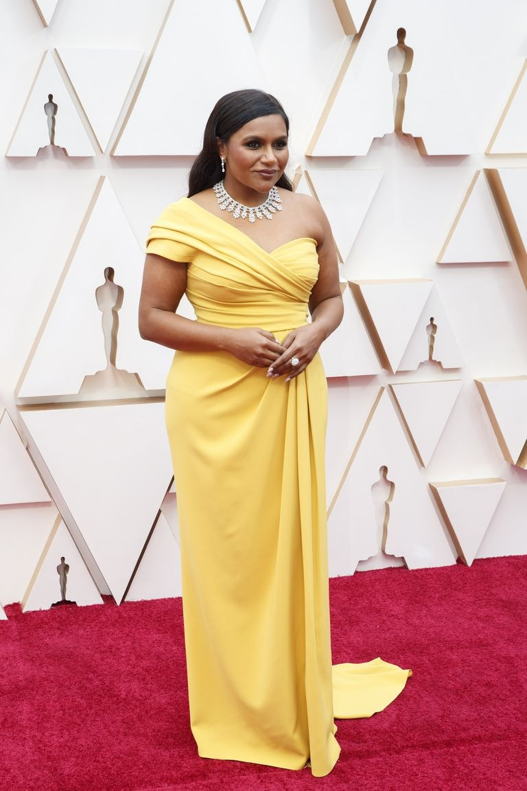 Mindy Kaling Best Dressed Oscars 2020 Dolce & Gabbana Yellow Dress