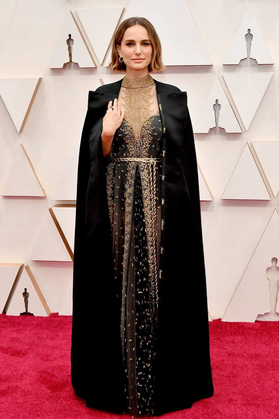 Natalie Portman Best Dressed Oscars 2020 Christian Dior - with the names of female directors embroidered into the cape
