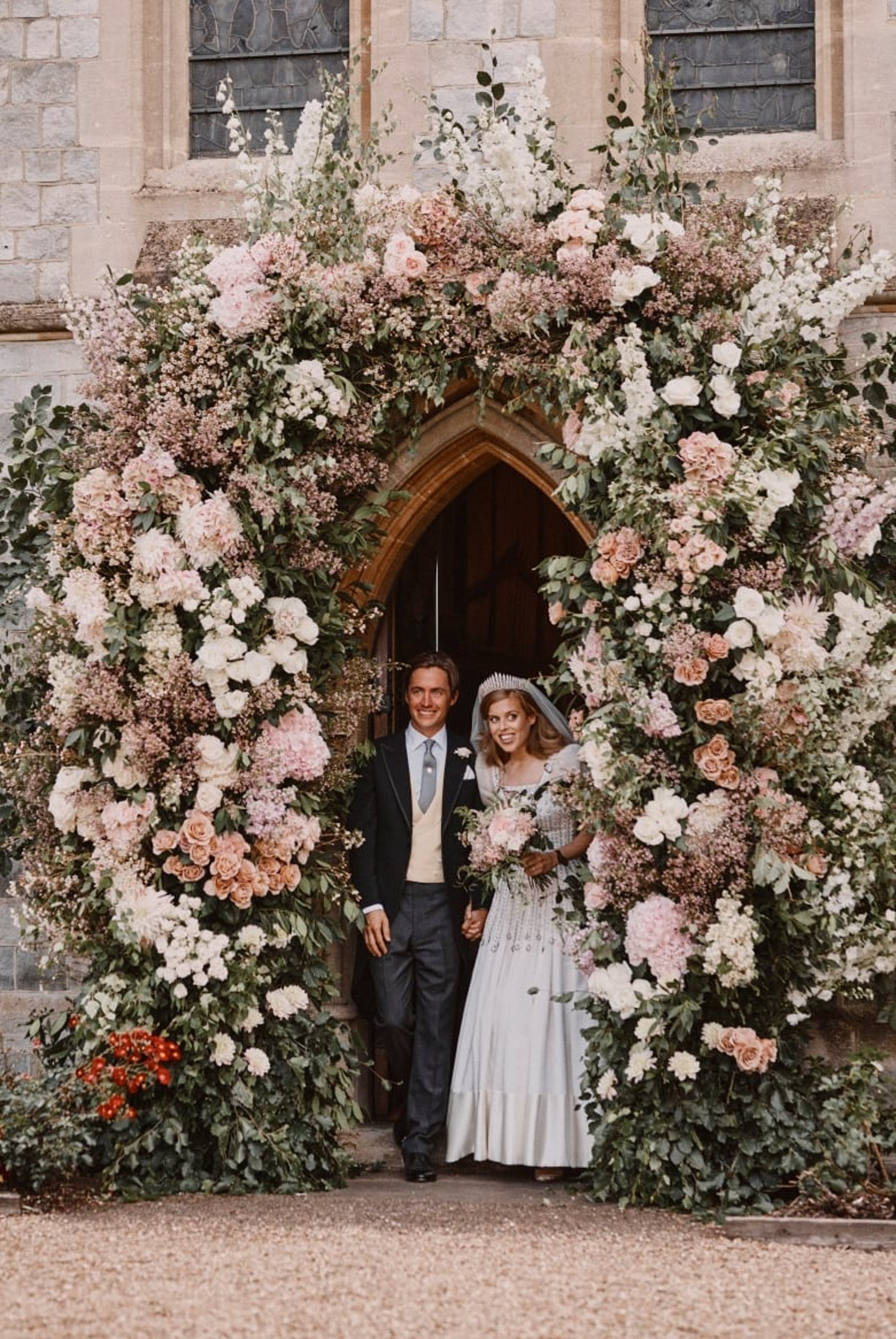 Princess Beatrice married Edoardo Mapello Mozzi in a private ceremony in Windsor. Her vintage Norman Hartnell dress was worn by Queen Elizabeth. The low-key wedding was a surprise, and a departure from the pomp & circumstance of the Royal Family, but still had all the class, heart and beauty we expect.