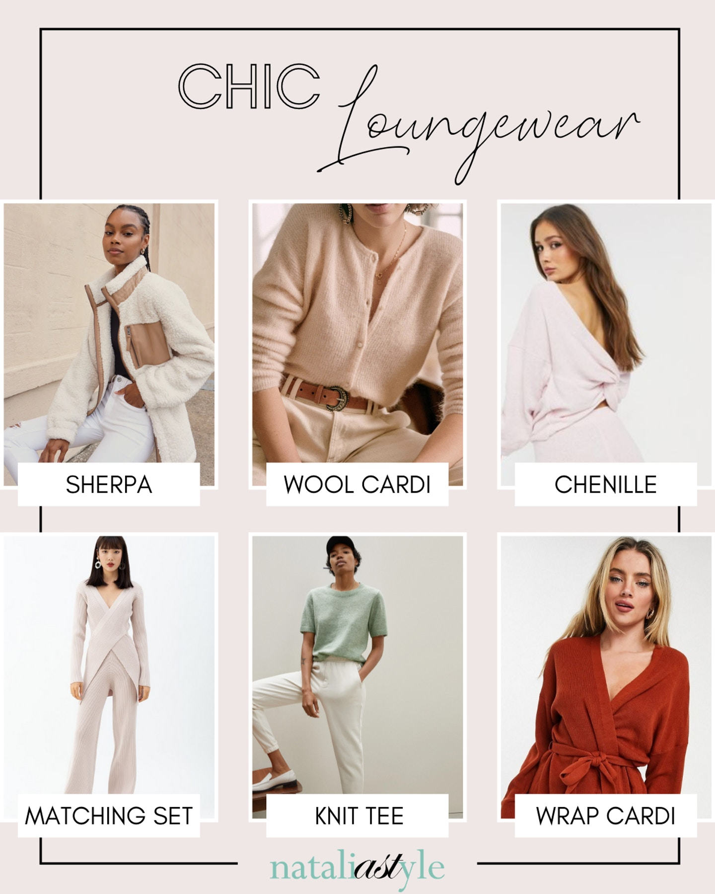 Looking for chic loungewear? I'm sharing a roundup of cozy clothes you can even wear on a zoom call. From chic cardigans to knit sweats, it's time to up your stay at home wardrobe game!
