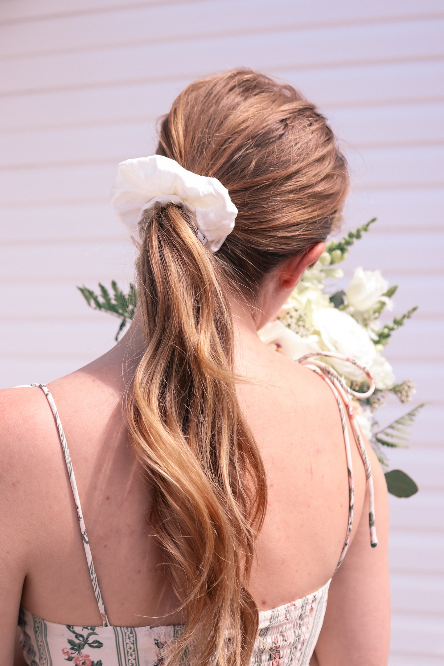 Lionheart the Label Mulberry Silk White Jumbo scrunchie: this chic hair accessory is so easy to feel pulled together, and is super gentle on your hair!