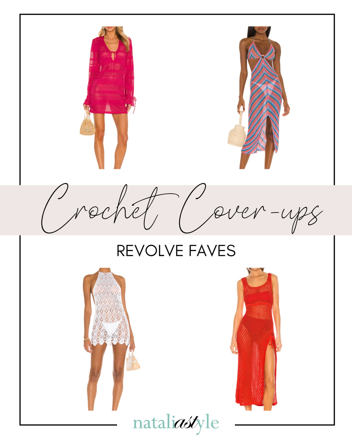 A crochet cover-up is a must for Summer 2021. These crochet swimsuit coverups are perfect for the beach or poolside, featuring fun colours and eye-catching designs.
