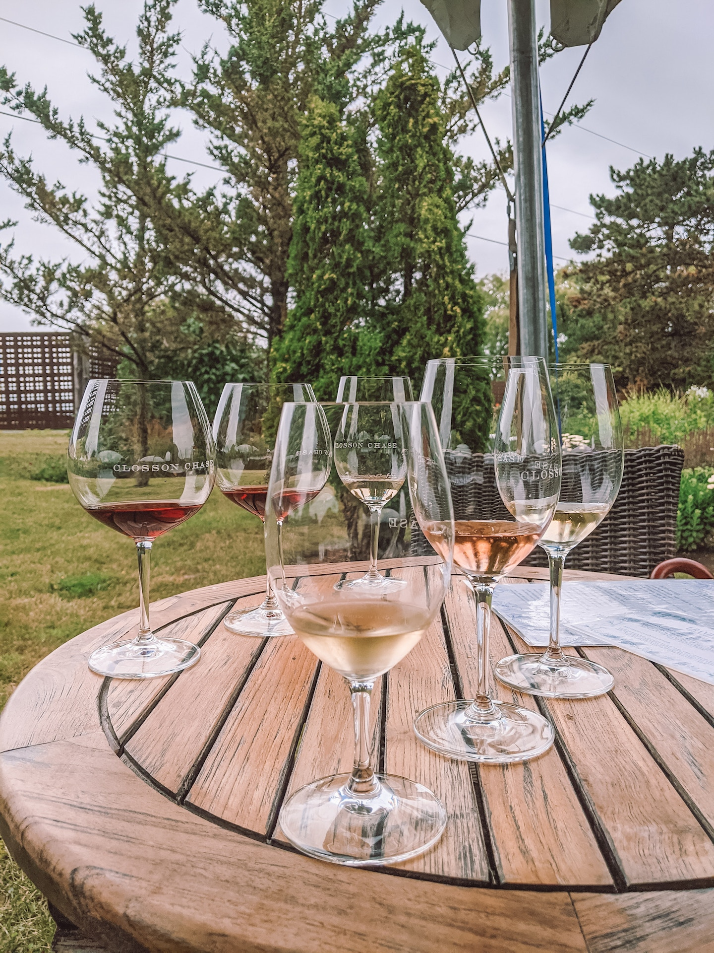 At Closson Chasse Vineyards in PEC, a tasting flight costs $15 for three selections of wine.